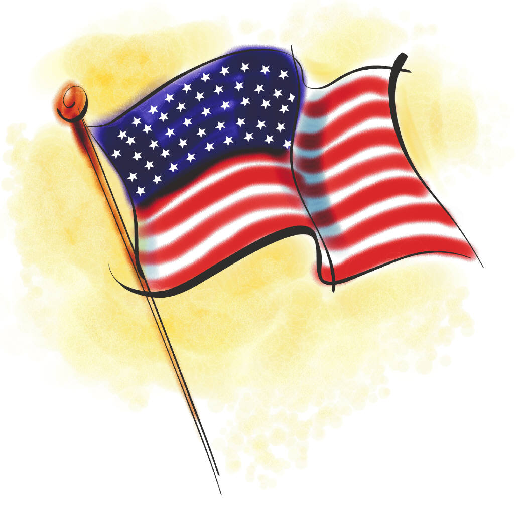 United states american flag clipart 2