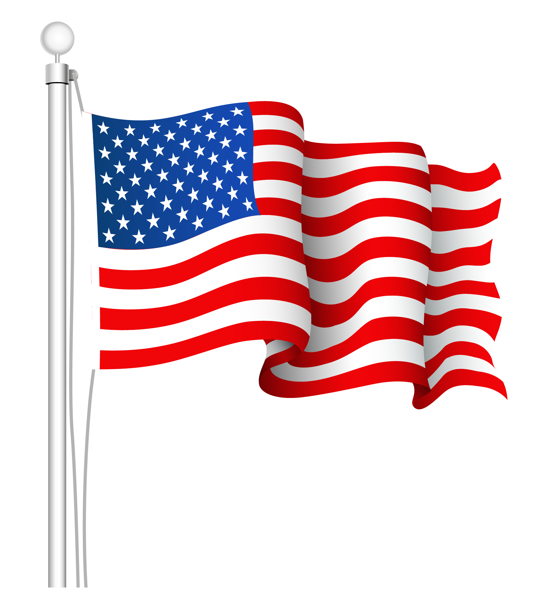 United states american flag clipart