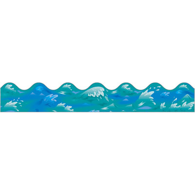 Waves water wave border clipart 4