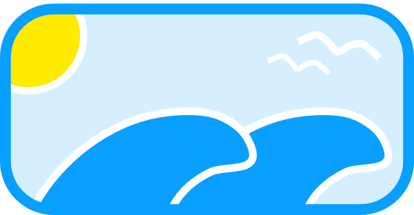 Waves wave scene clip art at vector clip art
