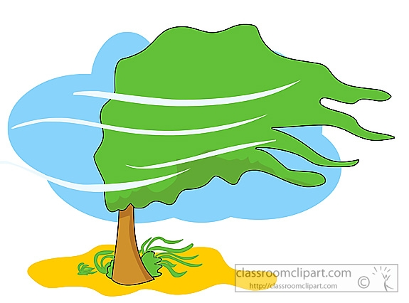 Wind tree clipart 2