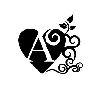 A black heart clipart 2