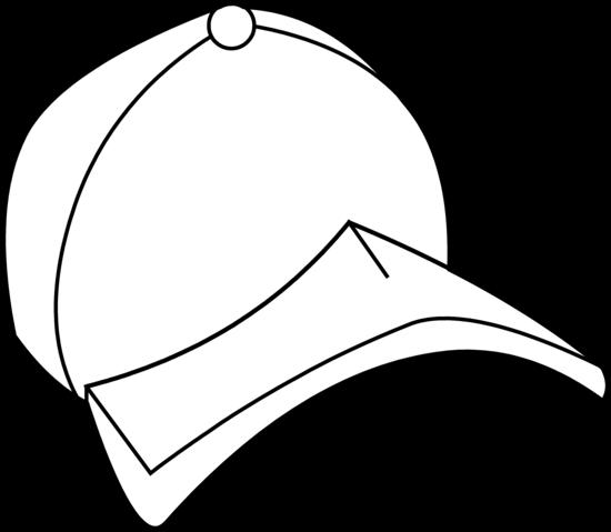 Baseball hat baseball cap coloring page free clip art