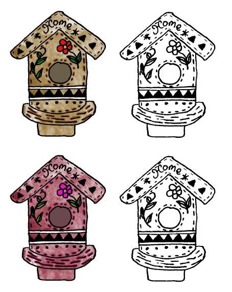 Birdhouse clipart 5