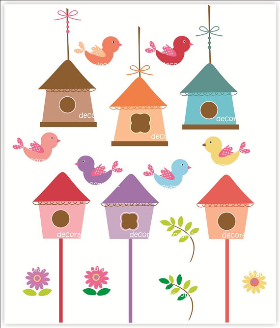 Birdhouse digital clipart 3