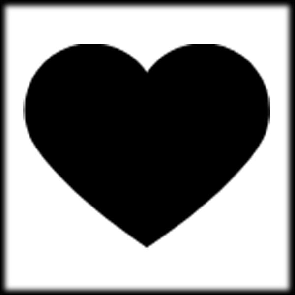 Black heart blackheart clipart