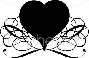 Black heart clip art clipart 2