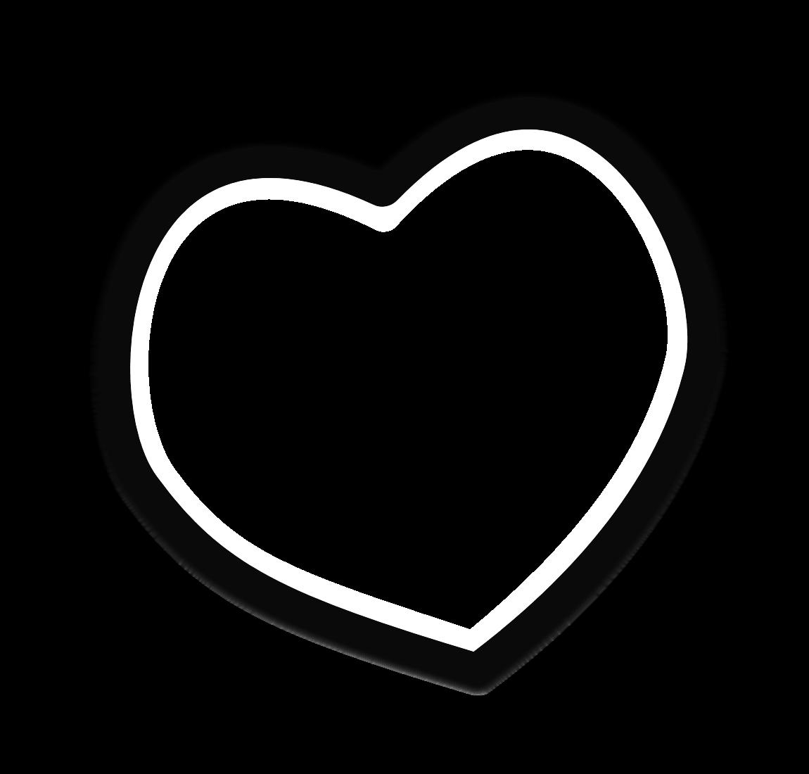 Black heart clip art clipart 3