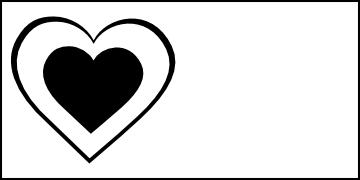 Black heart clip art clipart 4