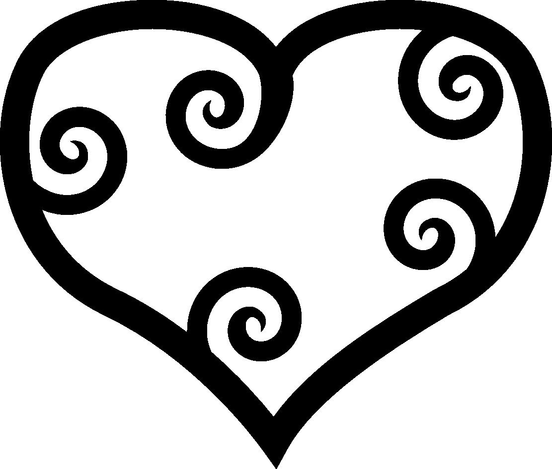 Black heart clip art clipart
