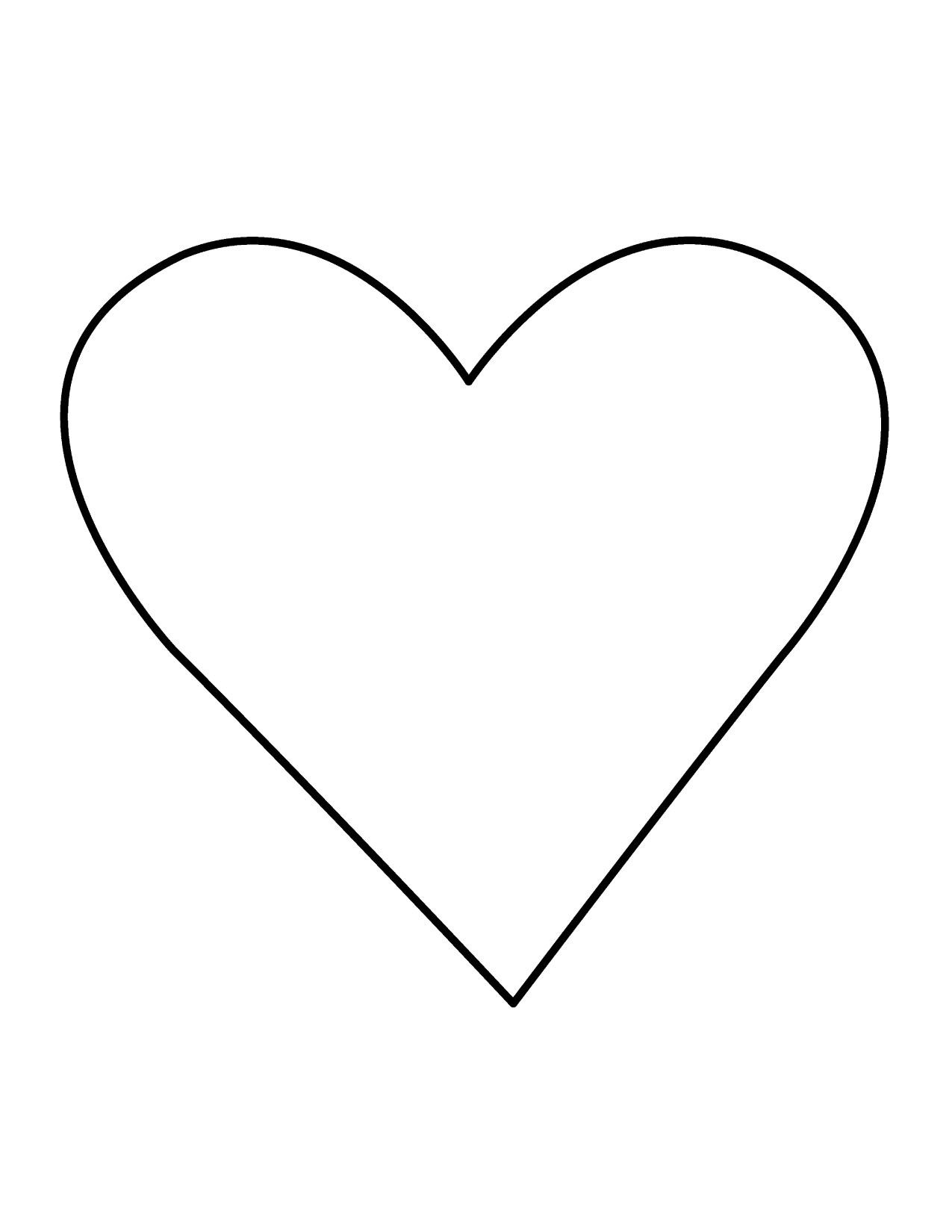 Black heart clip art heart outline free clipart images