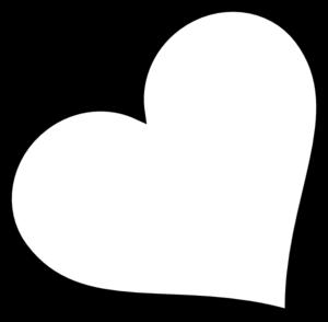 Black heart clipart 10