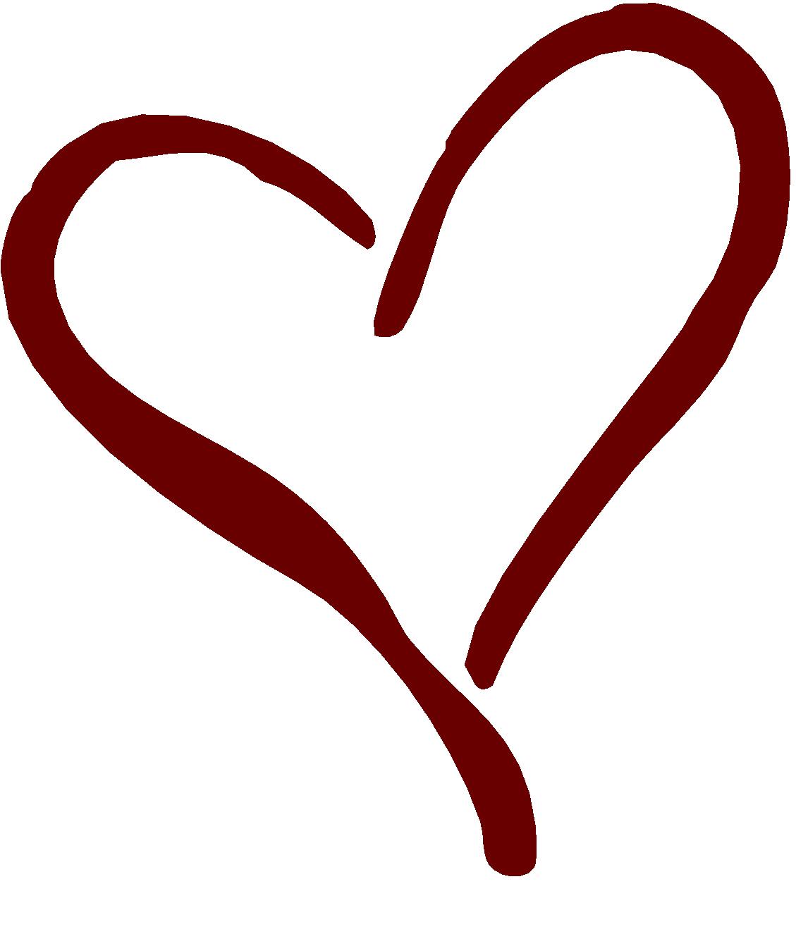 Black heart clipart 11