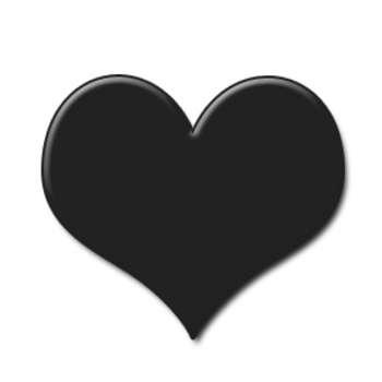 Black heart clipart 2