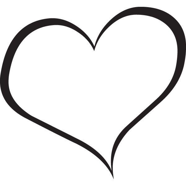 Black heart clipart 3