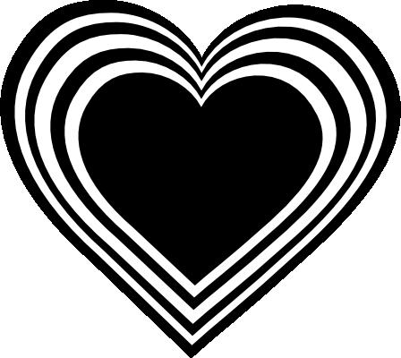 Black heart clipart 5