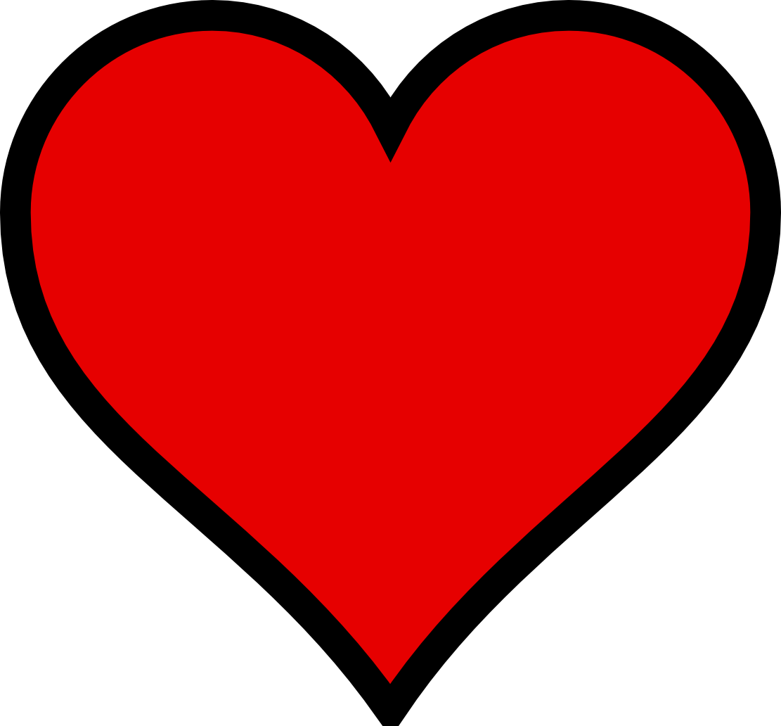 Black heart clipart 8