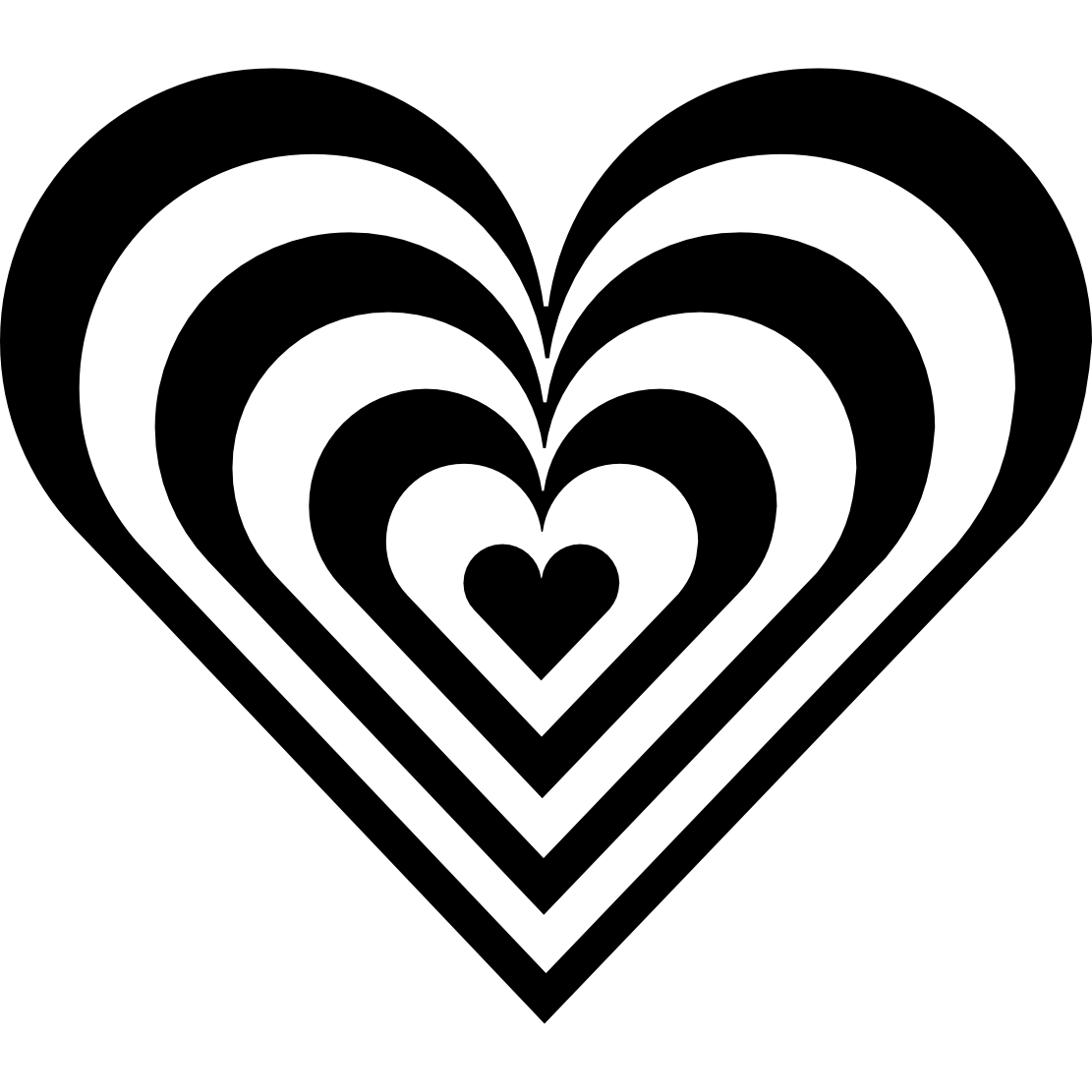 Black heart clipart 9