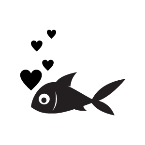 Black heart heart clipart black bubbles from a fish with white