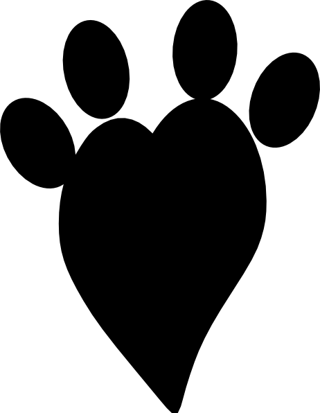 Black heart print clip art at vector clip art