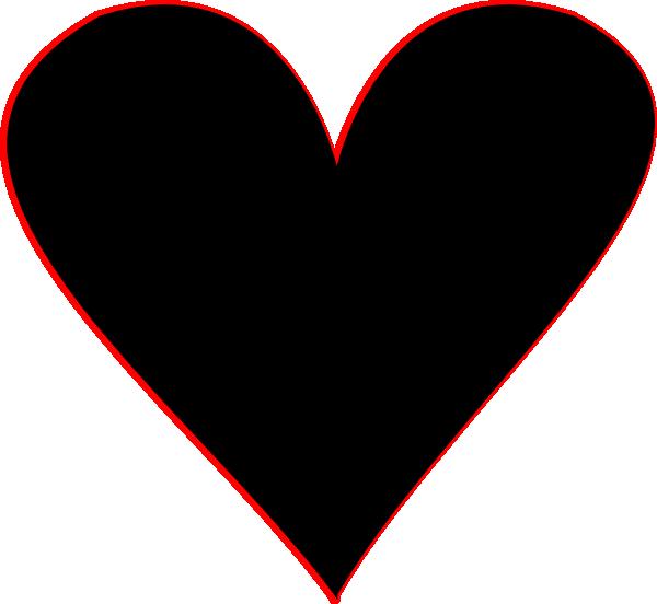 Black hearts clipart