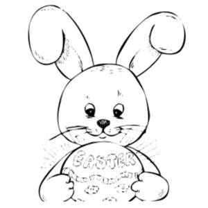 Bunny  black and white bunny black and white clipart 3