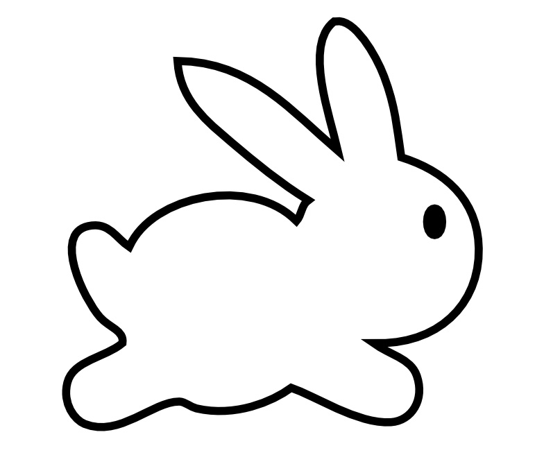 Bunny  black and white bunny clipart black and white free images 4