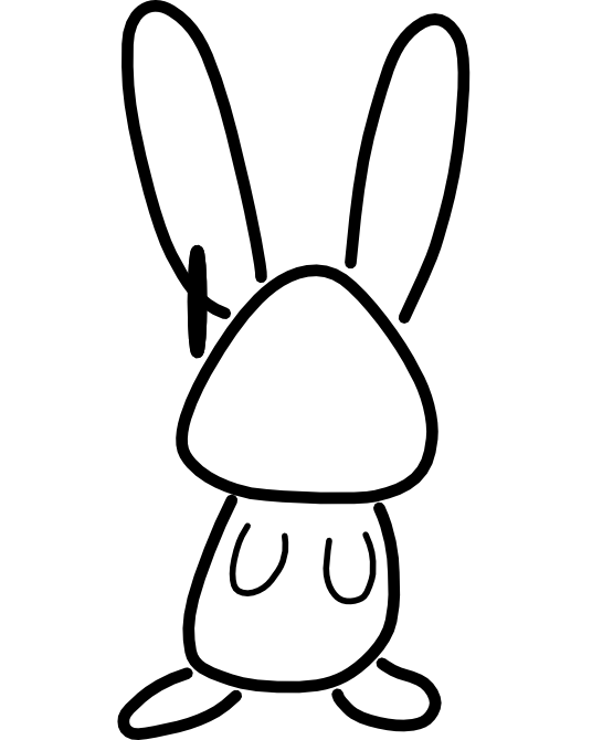 Bunny  black and white bunny clipart black and white free images 9