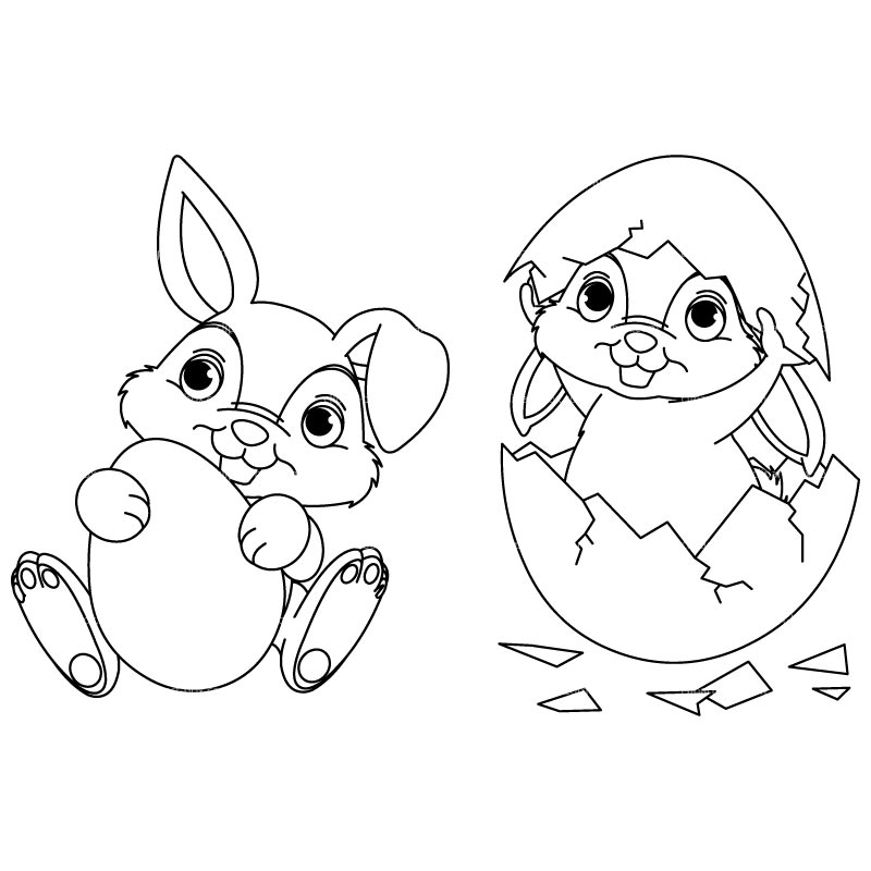 Bunny  black and white easter bunny with eggs clipart black and white quoteseveryday