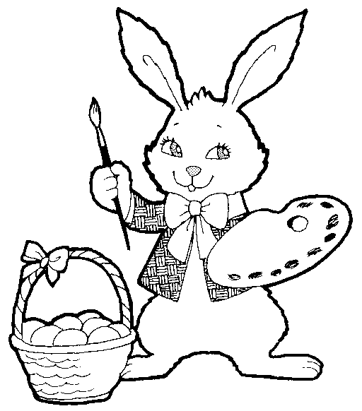 Bunny  black and white free black and white easter clipart holiday