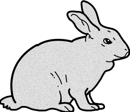 Bunny  black and white rabbit bunny clipart black and white free images 4