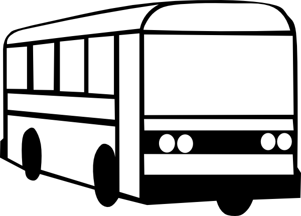 Bus  black and white bus clipart black and white clipartfest