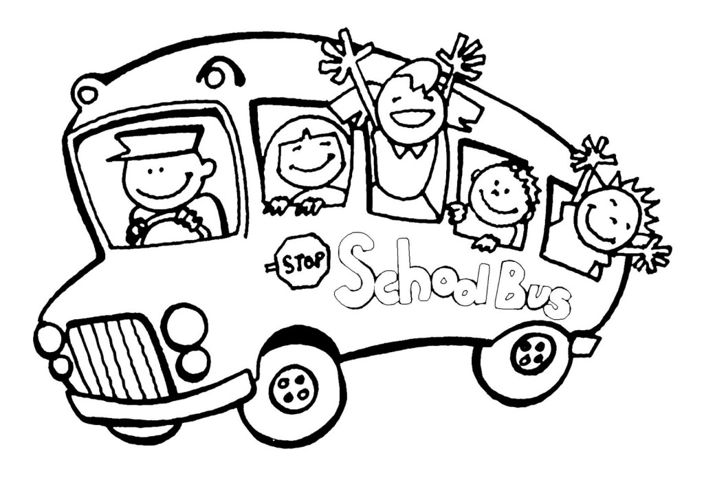 Bus  black and white free printable school bus clipart
