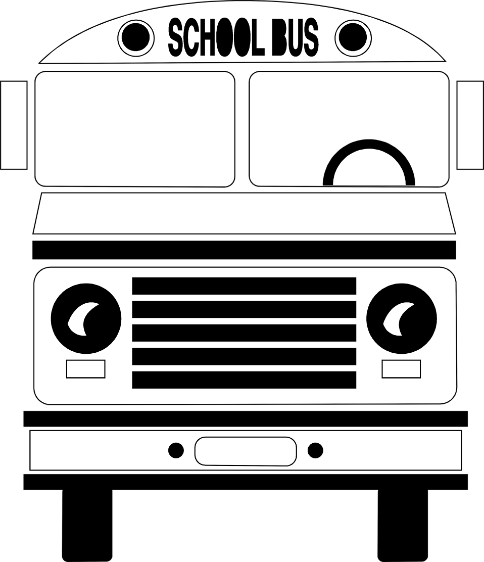 Bus  black and white free school bus clipart black and white image 5