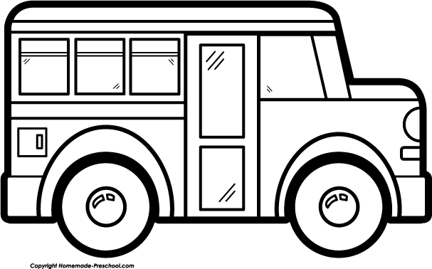 Bus  black and white school bus clip art black and white free clipart