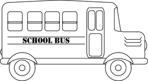 Bus  black and white school bus side view clipart black and white clipartfest