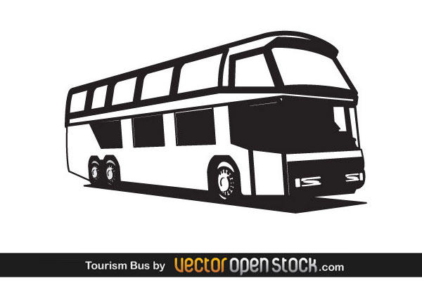 Bus  black and white travel bus clip art at vector