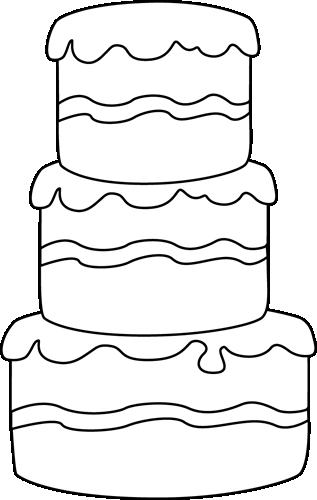 Cake  black and white big black and white cake clip art image