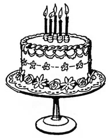 Cake  black and white birthday cake clip art black and white 2