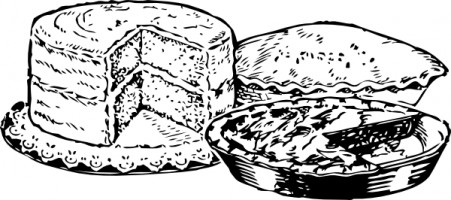 Cake  black and white birthday cake clip art free clipart images 5
