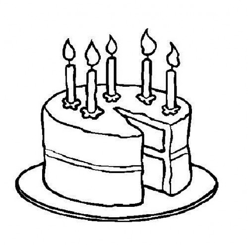 Cake  black and white birthday clipart black and white