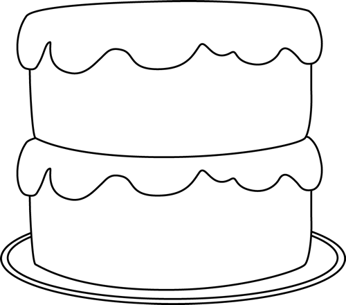 Cake  black and white cake black and white clipart 4