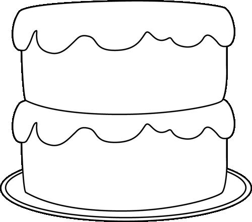Cake  black and white cake black and white clipart 4