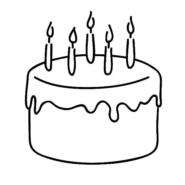 Cake  black and white cake black and white clipart