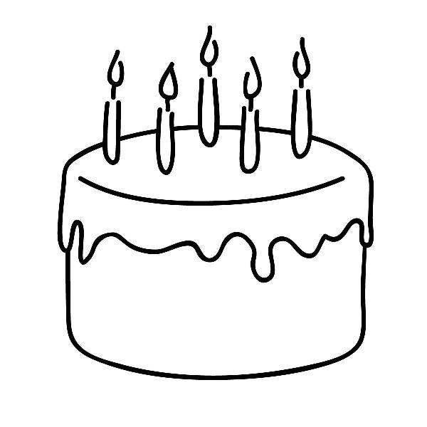 Cake  black and white cake black and white clipart