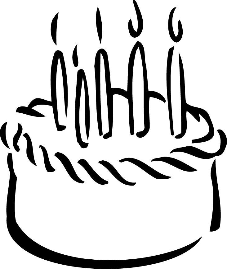 Cake  black and white cake clipart black and white clipartfest 3