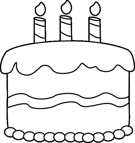 Cake  black and white cake clipart black and white clipartfest