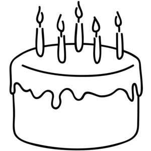Cake  black and white cake clipart black and white free clipartfest 4