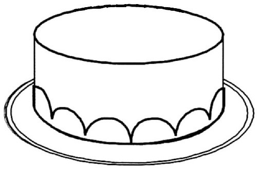 Cake Clipart Images Black And White : Cake black and white cake clipart without candles black ...