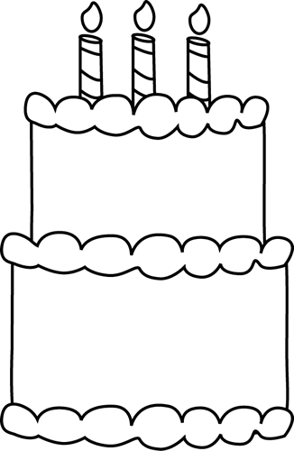 Cake  black and white candle clipart black and white hostted